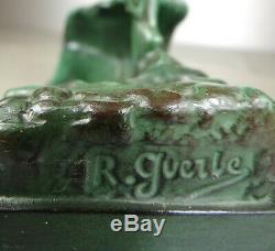 1920/1930 P Le Faguays R Guerbe M Le Verrier Statue Sculpture Art Deco Femme Nue