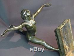 1930 belle Sculpture bronze Botinelly 37cm3.4kg Susse paris danseuse art déco +