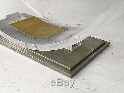 1970 Cheverny Table Basse Sculpture Moderniste Bauhaus Shabby-chic Lucite