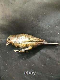 4 BRONZES oiseaux de MAX le VERRIER art deco 1930