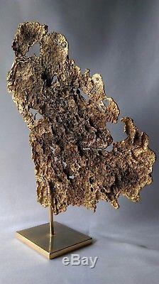 ANCIENNE SCULPTURE DE FORME LIBRE EN BRONZE DORÉ artiste à identifier