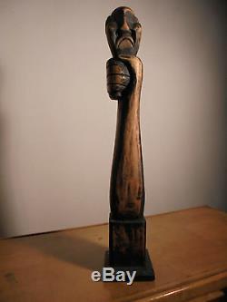 ART DÉCO 1930 Sculpture Symboliste Bois Moderniste Constructiviste Brutaliste