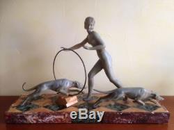 ART DECO SUPERBE Sculpture de SALVATORE MELANI (1902 1934) signé