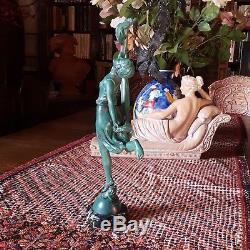 ART DECO signé P. SEGA Régule Socle marbre Statuette Femme Sculpture Statue
