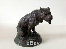 Alfred Barye (1839-1882) authentique sculpture bronze du 19eme siècle art deco