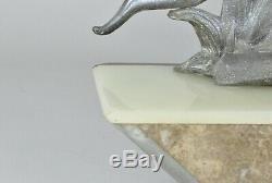 Amazone à l'Olifant, Sculpture Art Déco, XXème Siècle