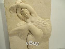 Ancienne Sculpture En Pierre Art Deco Danseuse Ballerine Signee