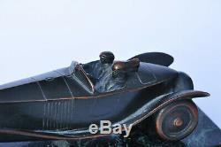 Ancienne sculpture automobile Art Déco Renault 40cv Antique old Car Roadster