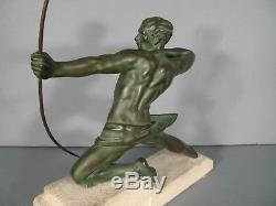 Archer Dit Le Spartiate Par Max Le Verrier Sculpture Ancienne Style Art Déco