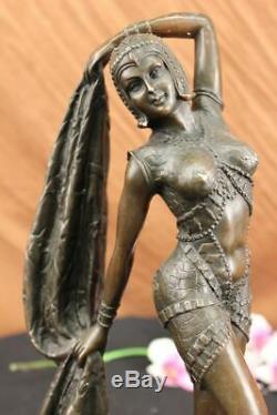 Art Déco Chiparus Érotique Danseuse Bronze Sculpture Statue Chaud Fonte Marbre