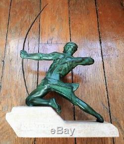 Art Déco Max Le Verrier Rare Sculpture Archer dit Le Spartiate