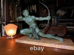 Art Deco Sculpture Salvatore Melani Archer Athlete 1930