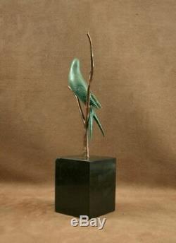 Belle Sculpture Bronze Animalier Art Deco Oiseau Hirondelle Par Irenee Rochard