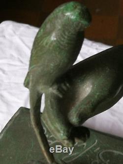 Bronze art deco 1930 antique woman SYLVESTRE SUSSE FRERES ed PARIS 61X34X22CM