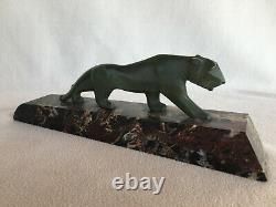 Bronze art déco tigre marchant