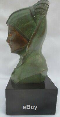 Bronze de G. GARREAU, Sculpture d'un buste féminin Style ART DECO