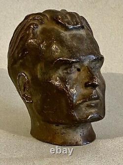 Bronze visage tête buste homme épreuve d'essai HC 1900 art déco Cire Perdue