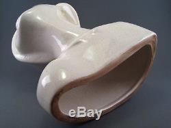 Buste de Femme au Chapeau faïence fine céramique craquelée ART DECO signé LEROY