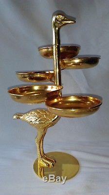 CHIC SCULPTURE AUTRUCHE MULTI-COUPELLES attribuée à Christian Dior décoration