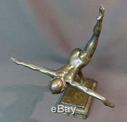 C 1930 belle Sculpture bronze Botinelly 37cm3.4kg Susse paris danseuse art déco