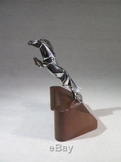 C. Brau Ancienne Mascotte Bouchon De Radiateur Cheval En Bronze Art Deco Voiture