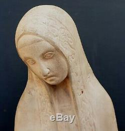 Canto Da Maya Sculpture Terre Cuite Maternite Art Deco 1930 Portugal