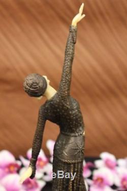 Chiparus Danse Du Ventre Bronze Marbre Sculpture Statue Figurine Fonte Art Déco