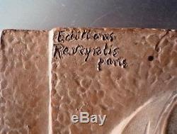 D. H. CHIPARUS, Rare sculpture art deco en terre cuite edition reveyrolis, gory