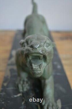 D. H. Chiparus Sculpture Art Deco Panthere Feulant