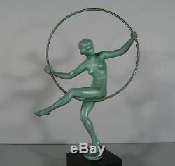 Danseuse Nue Sculpture Ancienne Style Art Déco Signée Briand Max Le Verrier