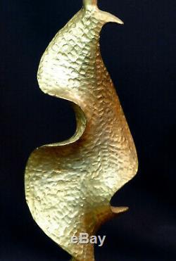 E Pied de lampe art contemporain design De Waël Fondica bronze doré 34cm3kg déco