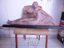 Enorme sculpture chiparus art deco terre cuite ancienne chic