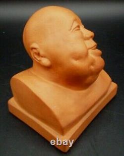 Gaston Hauchecorne Sculpture Art Deco Terre Cuite Personnage Chinois Signee