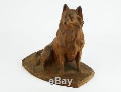 Georges MALISSARD (1877-1942) Sculpture ART DECO 1922 Chien