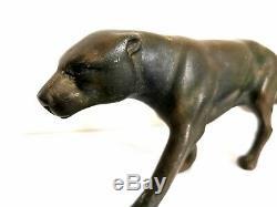 Grande sculpture panthère art deco en Régule patine bronze