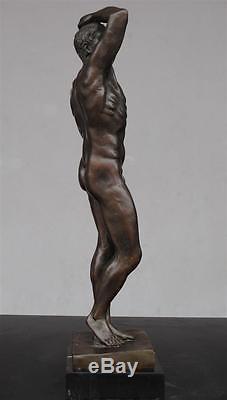 Homme nu bronze Art déco anonyme