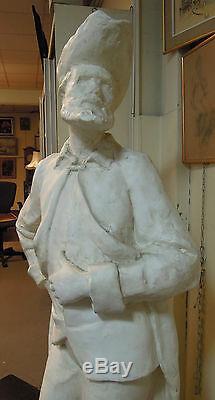 Importante Sculpture En Plâtre Représentant Don Quichotte Signée Combe
