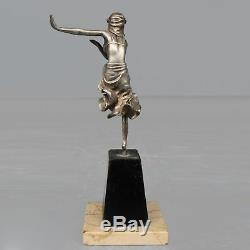 Jeune danseuse en bronze argenté Art déco 1930