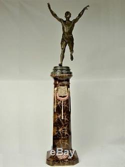 Joseph Carlier Superb Statue Sculpture Art Deco 1920 Homme Nu Athlete Sports