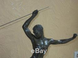 La Chasse à l'Aigle, Sculpture Art Déco Signée Jean De Roncourt