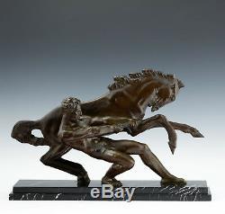 La Force Art Déco Sculpture de Alberto Bazzoni (1889-1973) Italie Um 1925/30