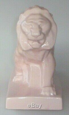 Lion marchant craquelé ART DECO LE JAN pour concessions PEUGEOT Circa 1935