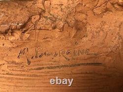 Marcel Andre Bouraine Nu Epreuve Terre Cuite Signe Et Date Art Deco 1945 G589