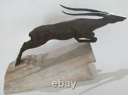 Max Le Verrier Sculpture Antilope De Demarco 1930 Regule