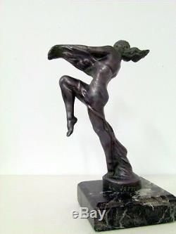Max Le Verrier sculpture des années 1930, idem mascotte automobile art deco