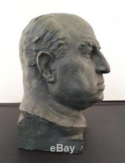 P. ROTHLISBERGER Buste de Lucien GUITRY sculpture plâtre