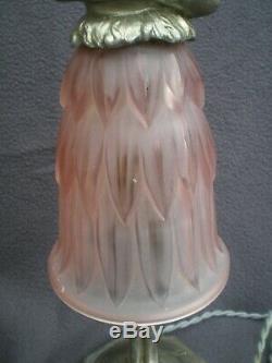Paire de lampe veilleuse art deco statue femme erotique sculpture lamp figurine