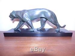 Panthère max leverrier art deco sculpture felin chic