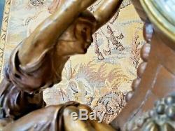 Pendule Art Déco sculpture femmes signée Jacques Limousin