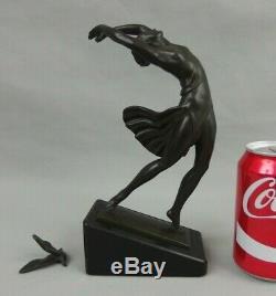 Pierre le Faguays FAYRAL sculpture en régule patine bronze danseuse art déco
